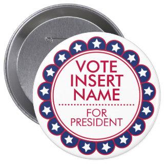 """Huge 4"""" Button Vote Election Political Campaign"""