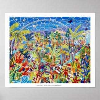 Huge Art Print: The Eden Project by John Dyer Poster