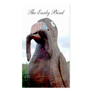 Huge Bird With Worm In Beak Photographer Business Pack Of Standard Business Cards