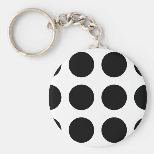 Huge Black Dots Key Ring