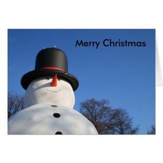 Huge blowup snowman cards
