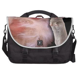Huge Cat Paw Little Christmas Mouse Laptop Messenger Bag