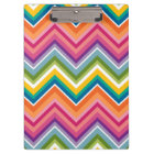 Huge Colourful Chevron Pattern Clipboard