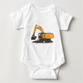 Huge Dirt Excavator Baby Bodysuit