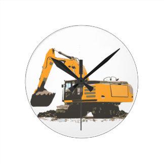Huge Dirt Excavator Clock
