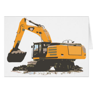Huge Dirt Excavator Greeting Card