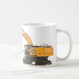 Huge Dirt Excavator Basic White Mug