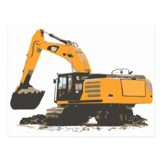 Huge Dirt Excavator Postcard