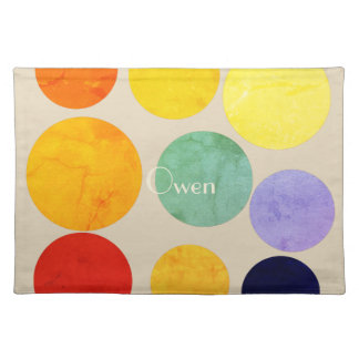 Huge Dots Abstract  Multicolor Pattern Placemat
