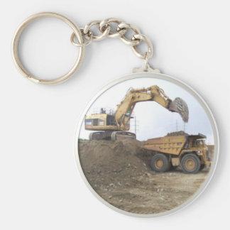 Huge Excavator / Dump Truck Key Ring