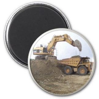 Huge Excavator / Dump Truck Magnet