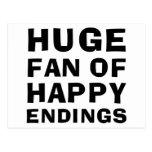 Huge Fan Happy Post Cards