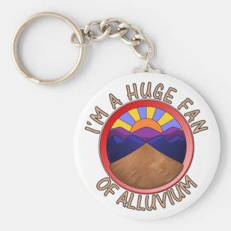 Huge Fan of Alluvium Pun Basic Round Button Key Ring