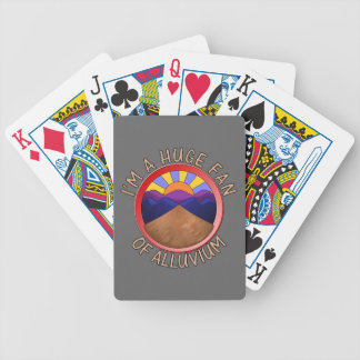 Huge Fan of Alluvium Pun Bicycle Card Deck