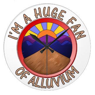 Huge Fan of Alluvium Pun Wall Clocks