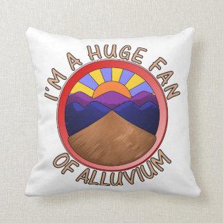 Huge Fan of Alluvium Pun Pillow