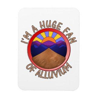 Huge Fan of Alluvium Pun Vinyl Magnet