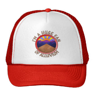 Huge Fan of Alluvium Pun Print Hat