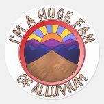 Huge Fan of Alluvium Pun Sticker