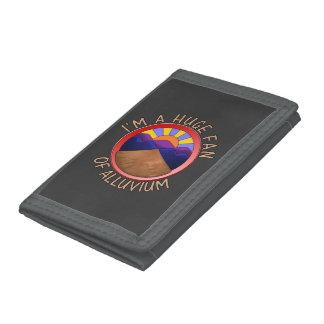 Huge Fan of Alluvium Pun Tri-fold Wallet