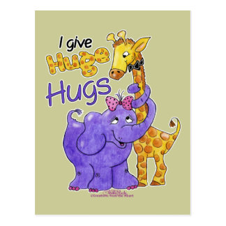 Huge Hugs Postcard
