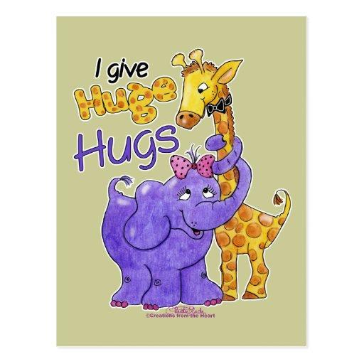 Huge Hugs Post Card