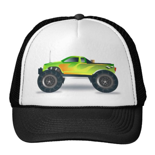 Huge Monster Truck Speedway-lover Design Cap