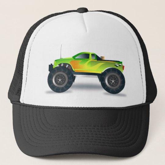 Huge Monster Truck Speedway-lover Design Trucker Hat