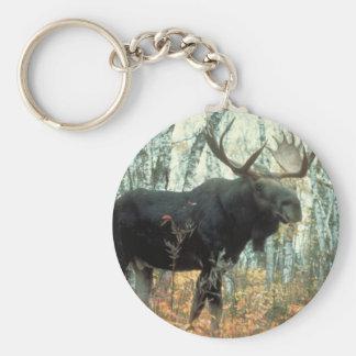 Huge Moose Key Ring