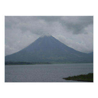 Huge Picture of a Volcano in Costa Rica! Poster