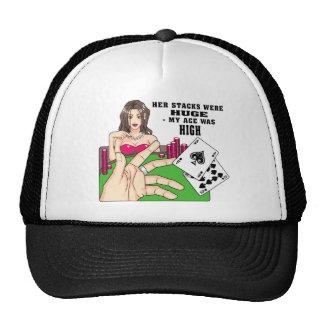 Huge Poker Stacks Mesh Hats