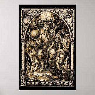 HUGE Satan Enthroned wall art 40x60