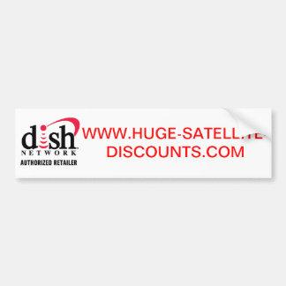 HUGE SATELLITE DISCOUNTS BUMPER STICKER