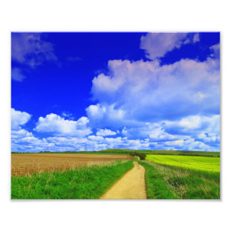 Huge sky over White Horse Hill Photo Print