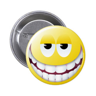 Huge Smile Smiley Face 6 Cm Round Badge