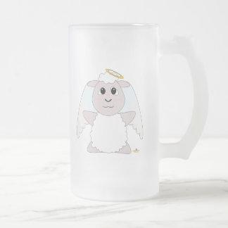 Huggable Angel White Sheep Mugs