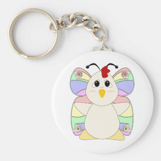 Huggable Chicken Butterfly Keychains