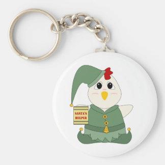 Huggable Chicken Elf Keychains