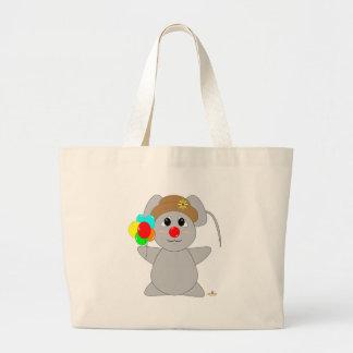 Huggable Clown Gray Mouse Bag