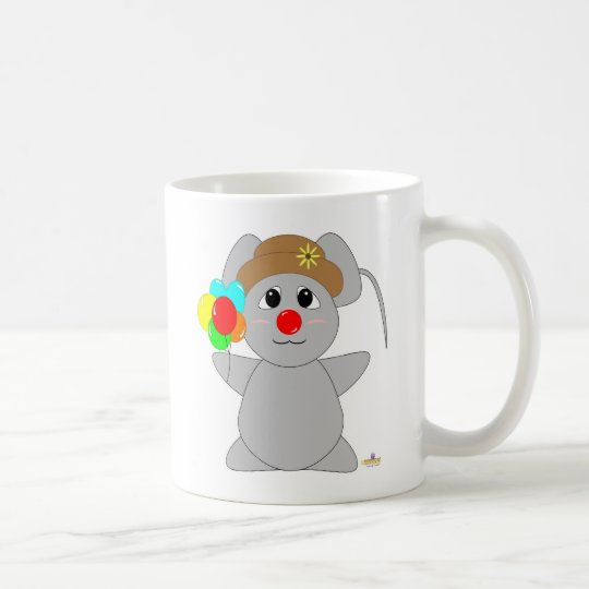 Huggable Clown Grey Mouse Coffee Mug
