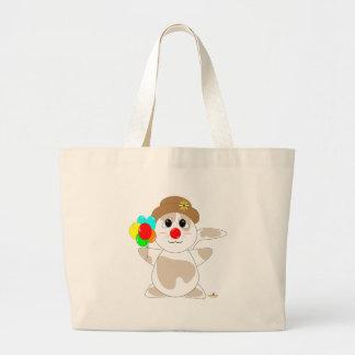 Huggable Clown Tan Cat Bags