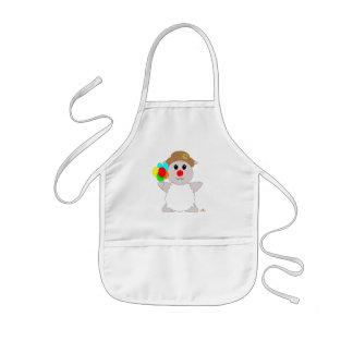 Huggable Clown White Sheep Kids' Apron