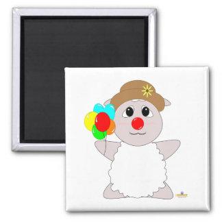 Huggable Clown White Sheep Fridge Magnet