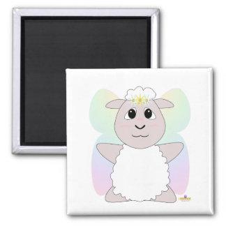 Huggable Fairy White Sheep Refrigerator Magnet