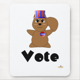 Huggable Voting Brown Squirrel Vote Mouse Mat