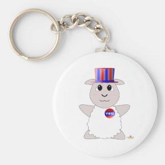 Huggable Voting White Sheep Keychains