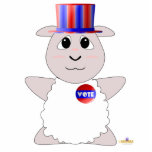 Huggable Voting White Sheep Photo Cutout