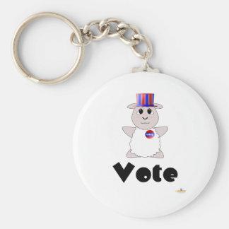 Huggable Voting White Sheep Vote Keychain