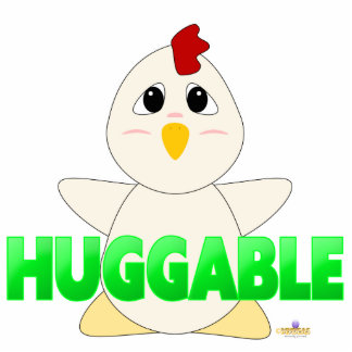 Huggable White Chicken Green Huggable Cut Outs