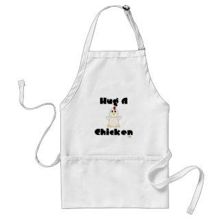 Huggable White Chicken Hug A Chicken Standard Apron